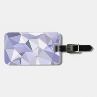 Lavender Abstract Low Polygon Background Luggage Tag