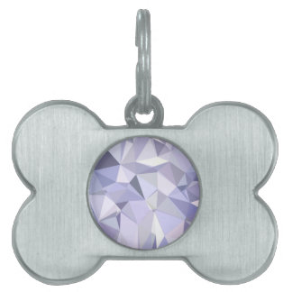 Lavender Abstract Low Polygon Background Pet Tags