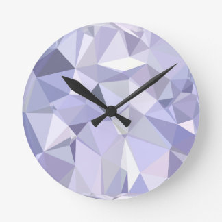 Lavender Abstract Low Polygon Background Wall Clock