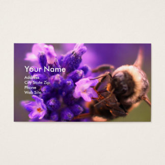Lavender and Bee Business Card