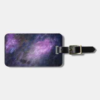 Lavender and Black Abstract Luggage Tags