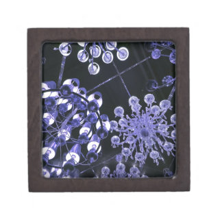 Lavender and Black Hip Abstract Pattern Premium Keepsake Box