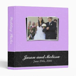 Lavender and Black Lace Wedding Binder