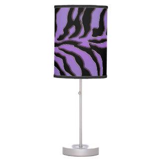 Lavender and Black Zebra  Lamp