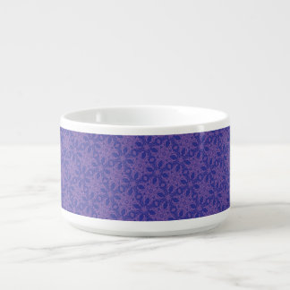 Lavender and Blue Abstract Chili Bowl