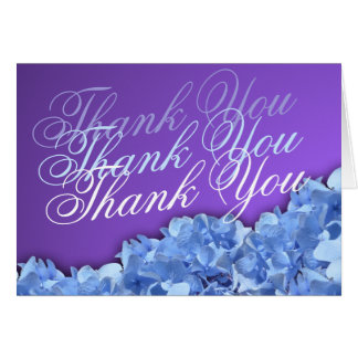 Lavender and Blue Hydrangeas Thank You Card