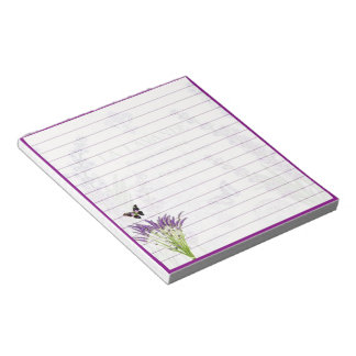 Lavender and butterfly notepad