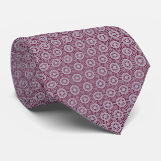 Lavender and DarkRed Excellent Pattern Tie