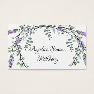 Lavender and Eucalyptus Business Card