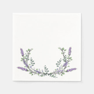 Lavender and eucalyptus disposable napkins