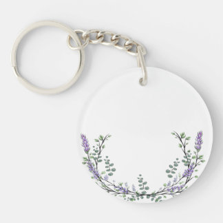 Lavender and Eucalyptus Keychain