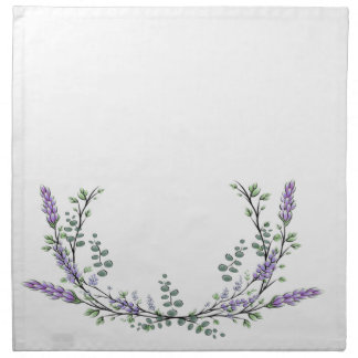 Lavender  and Eucalyptus Napkin