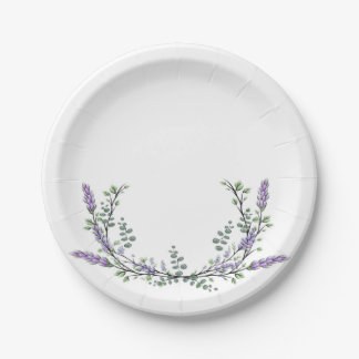 Lavender and eucalyptus paper plate