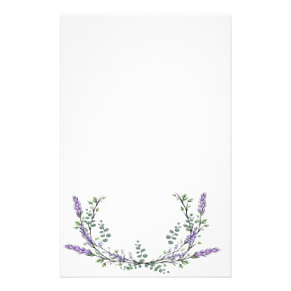 Lavender  and Eucalyptus Stationery