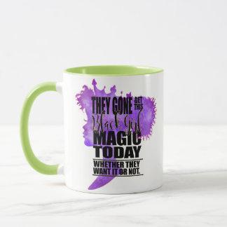 Lavender and Green Black Girl Magic Mug