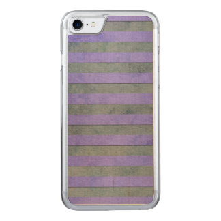 Lavender and Grey Watercolor Stripes Pattern Carved iPhone 7 Case