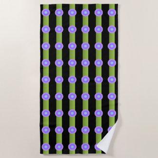 Lavender and Indigo Circles  Minimalism Pattern Beach Towel
