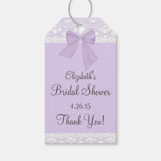 Lavender and Lace Bridal Shower Guest Favor Pack Of Gift Tags