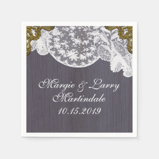Lavender and Lace Vintage Napkin