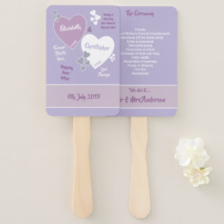Lavender and Lilac Wedding Hand Fan