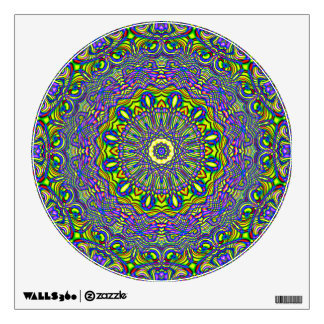 Lavender and Lime Kaleidoscope Wall Art Wall Sticker