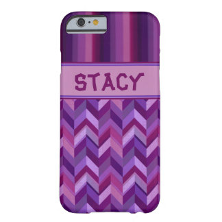 Lavender and Maroon Chevrons Customisable Barely There iPhone 6 Case