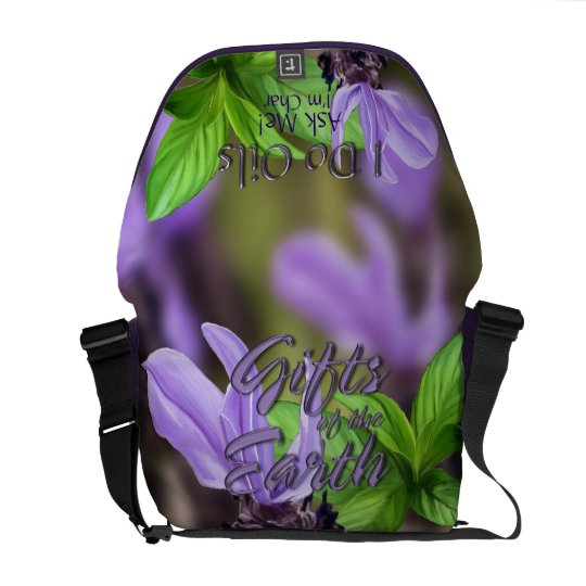 "Lavender and Peppermint ""I Do Oils"" Messenger Bag"