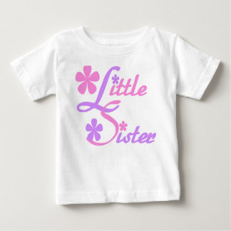 Lavender and Pink Little Sister Baby T-Shirt