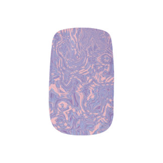 Lavender and Pink Swirls Minx Nail Art