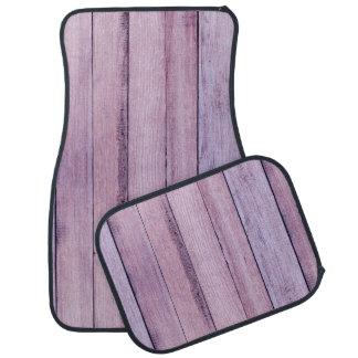 Lavender and Purple Wood Boards Planks Car Floor Carpet