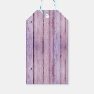 Lavender and Purple Wood Boards Planks Wedding Pack Of Gift Tags