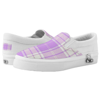 Lavender and Soft Yellow Slip On Sneakers