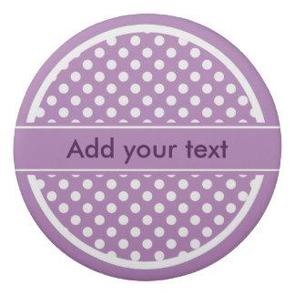 Lavender and White Polka Dots Eraser