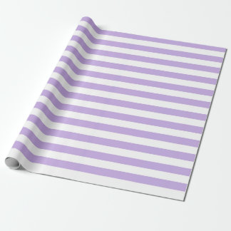 Lavender and White Stripes Wrapping Paper