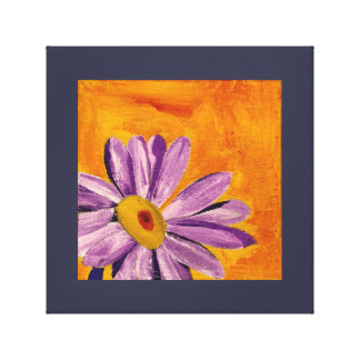 Lavender and Yellow Flower Painting Canvas Print