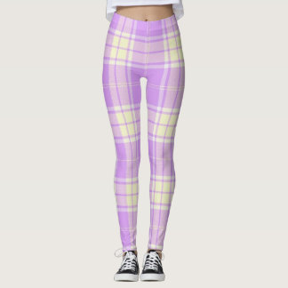 Lavender and Yellow Plaid Leggings