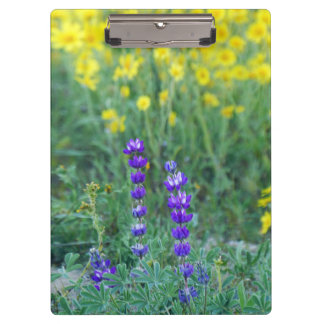 Lavender and Yellow Sunflower Clipboard