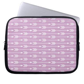 Lavender Arrows Pattern Laptop Sleeve