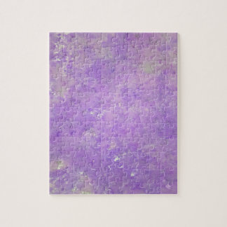 Lavender Artistic Marbling Pattern Jigsaw Puzzle