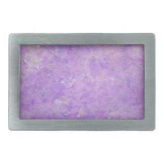Lavender Artistic Marbling Pattern Rectangular Belt Buckle