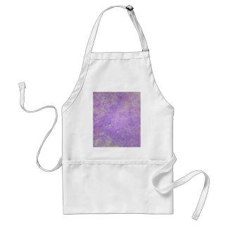 Lavender Artistic Marbling Pattern Standard Apron