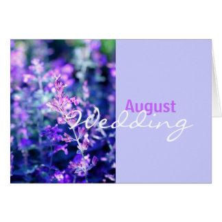 Lavender, August wedding Card