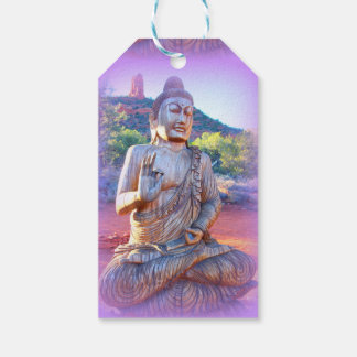 lavender aura buddha pack of gift tags