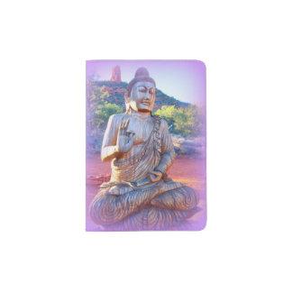 lavender aura buddha passport holder
