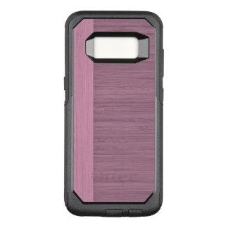 Lavender Bamboo Border Wood Grain Look OtterBox Commuter Samsung Galaxy S8 Case