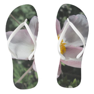 Lavender Beach Plum Rose Flower Flip Flops