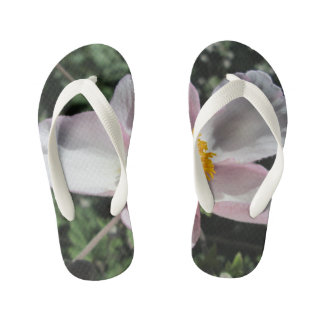 Lavender Beach Plum Rose Flower Kid's Flip Flops