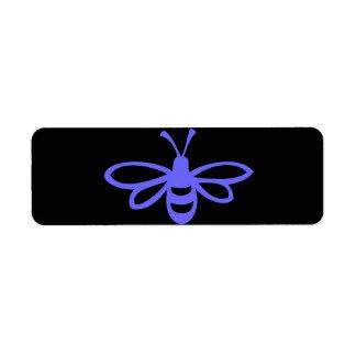 Lavender Bee Return Address Label