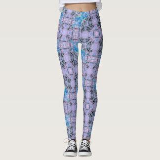 Lavender Berry Geometric Leggings