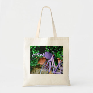Lavender Bicycle Tote Bag